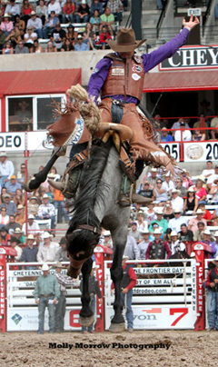 Molly's photo of Saddle Bronc rider Cody DeMoss
