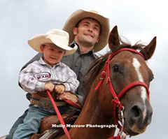 Molly's photo of Bareback rider Will Lowe with son Garrett