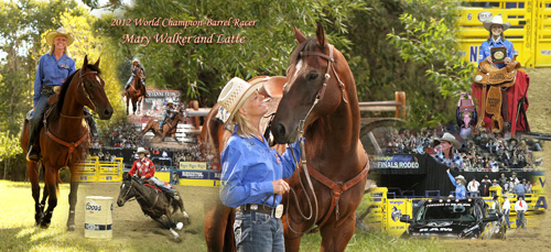 2012 World Champion Barrel Racer Mary Walker and her horse Latte
