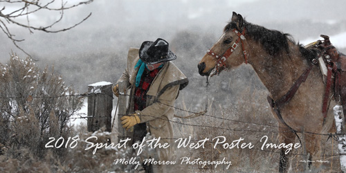 2018 Spirit of the West Poster Image featuring Mike Frailey and his horse Buddy